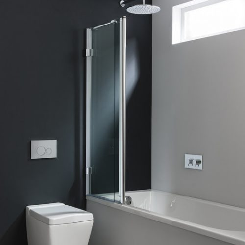 Crosswater Design 1500mm Long Triple Bath Screen DBTSC1500