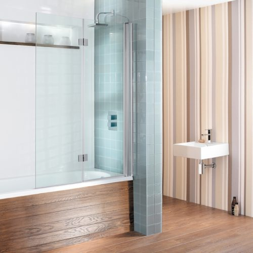 Simpsons Design Hinged Inward Bath Screen DBVSC1060