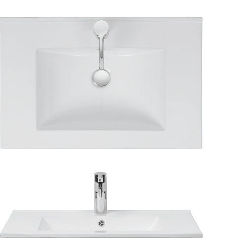 Bauhaus Design 70 Basin Only Ceramic White DE0003SCW