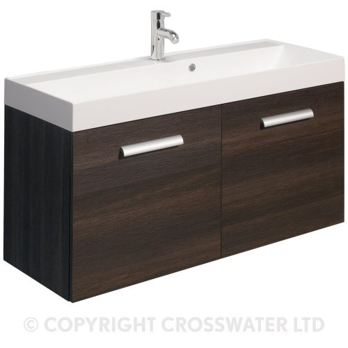 Crosswater Design 1 Hole Vanity Basin 1000 Only DE0040SRW
