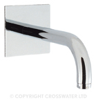 Crosswater Design Bath Spout 160mm Wall Mounted DE0370WC