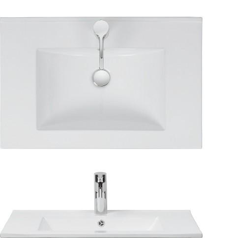 Crosswater Design Vanity Basin 70 no tap hole DE0710SRW