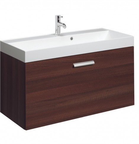 Bauhaus Design 100cm single Drawer Walnut DE1000DWT