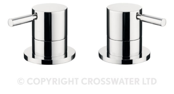 Crosswater Design Panel Valves Pair Deck Mounted DE350DC