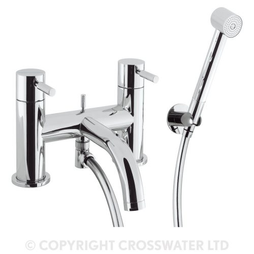 Crosswater Design Bath Shower Mixer Deck Mounted DE422DC