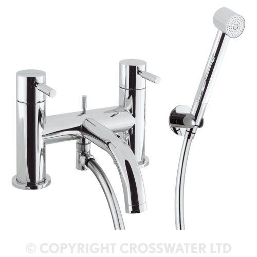 Crosswater Design Bath Shower Mixer Deck Mounted DE422DC