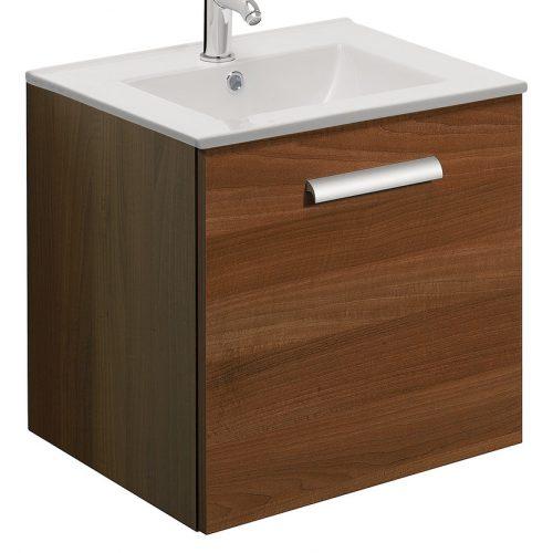 Bauhaus Design Plus 50cm single Drawer Walnut DE5000DWT