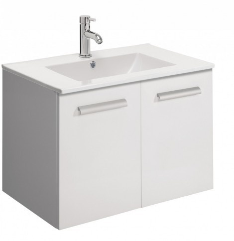 Bauhaus Design Door Vanity Unit 70cm White DE7000FWG
