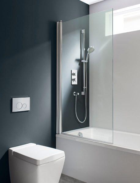 Simpsons Design Swivel Single Bath Screen inc towel rail DBSSC0850+TR-0