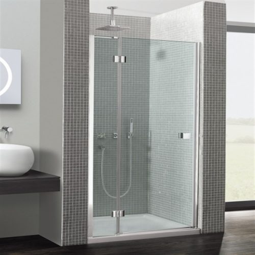 Simpsons Design Hinged Door with Inline Panel 900mm DHDSC0900