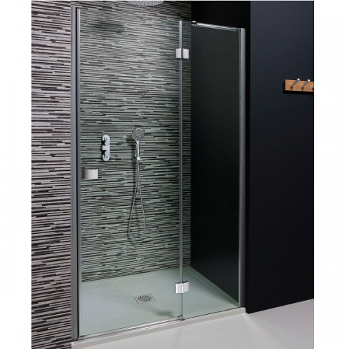 Crosswater Design Hinged Door with Inline Panel 1000mm DHDSC1000-0