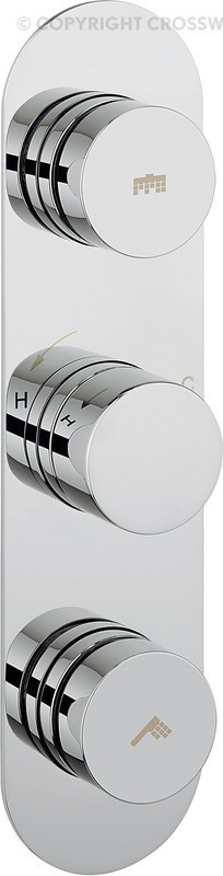 Crosswater Central Dial Shower Valve 2 Control DIAL-CENT-3