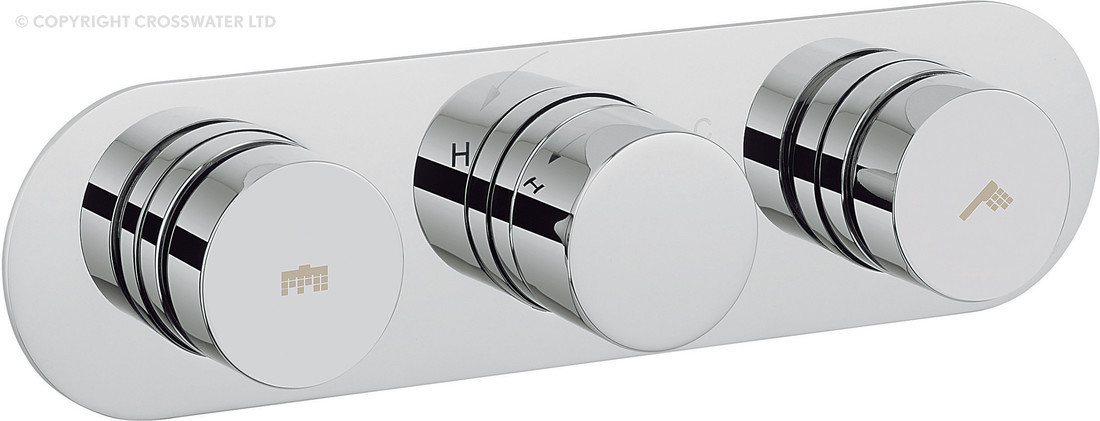 Crosswater Central Dial Shower Valve 2 Control DIAL-CENT-4