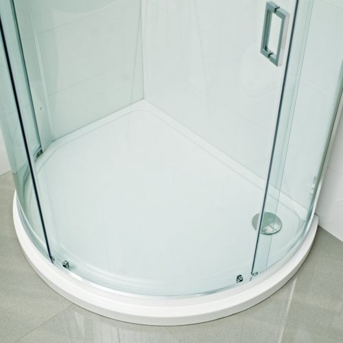Roman Lumin8 bow quadrant tray left shower tray DQT3L