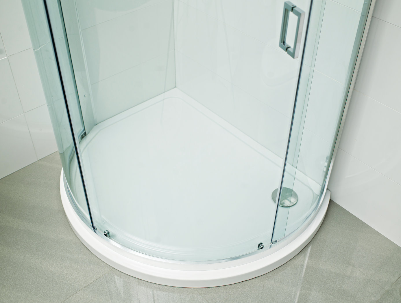 Buy Online Roman Lumin8 bow quadrant tray left shower tray DQT3L