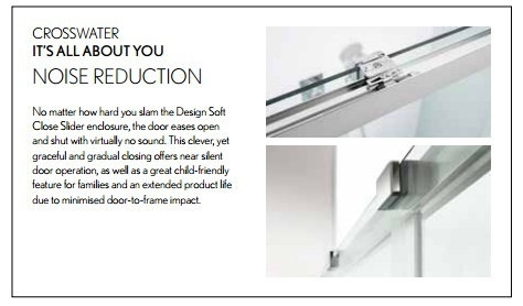 Simpsons Design 1400mm Soft Close Slider Shower Door DSLSC1400