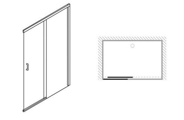 Simpsons Design 1600mm Soft Close Slider Shower Door DSLSC1600