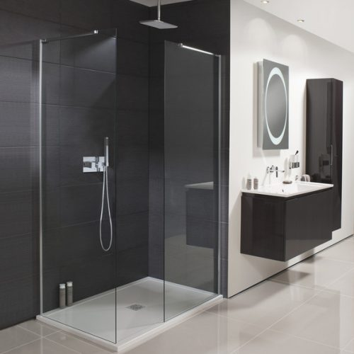 Crosswater Design Wet Room or Walk In Panel 400mm DSPSC0400