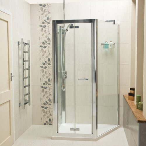 Roman Embrace Trapezium 1 Wall 3 Sided Shower Enclosure