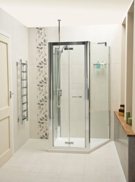 Buy Online Roman Embrace Trapezium 1 Wall 3 Sided Shower Enclosure