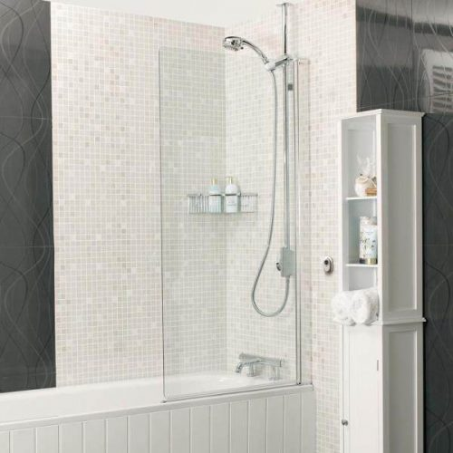 Roman Embrace 6mm Bath Screen Clear Silver EB13S