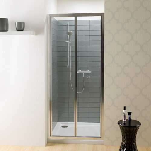 Crosswater Edge Bifold Door Silver Frame 900mm EBFSC0900