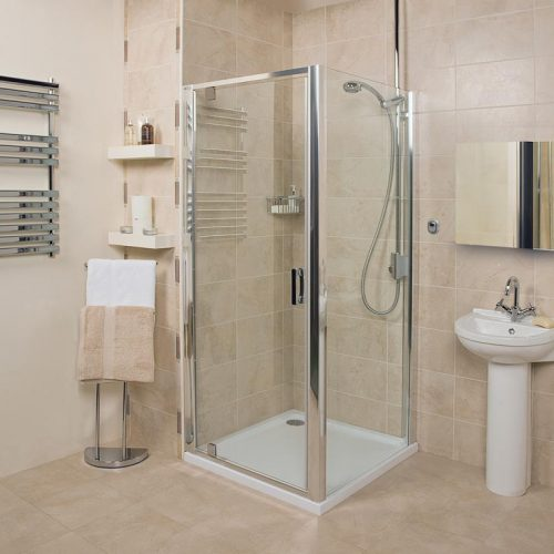 Roman Embrace 900 6mm Pivot Shower Door Only EF913S