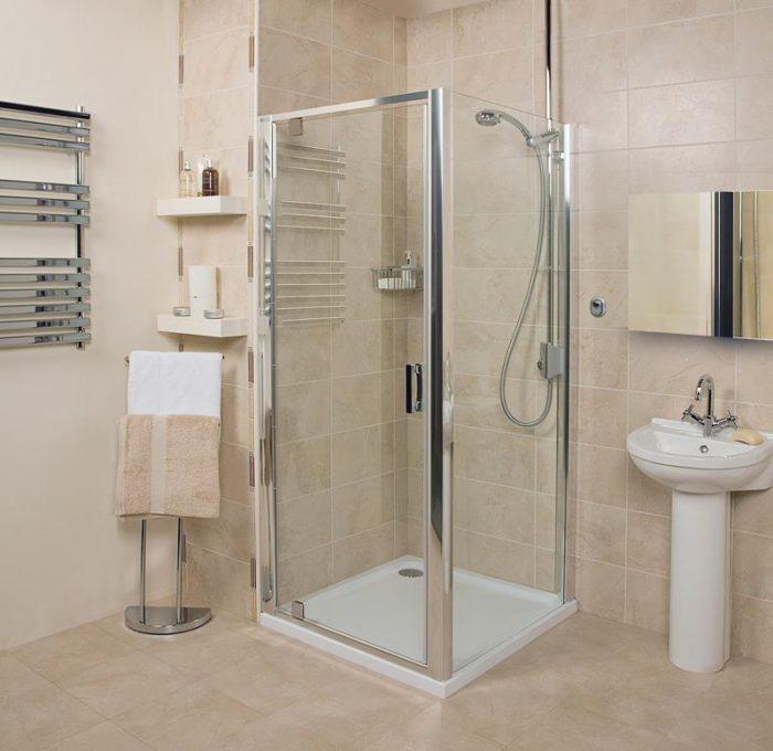 Roman Embrace 900 6mm Pivot Shower Door Only EF913S