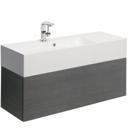 Bauhaus Elite Drawer Vanity Unit 100 Steel EL1000DST