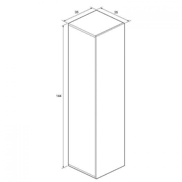 Bauhaus Single Door Storage Unit 350x1440 Steel EL3514FST