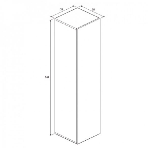 Bauhaus Single Door Storage Unit In Walnut EL3514FWT