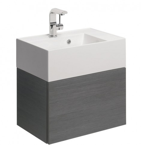 Crosswater Elite Drawer Vanity Unit 50 Steel EL5000DST