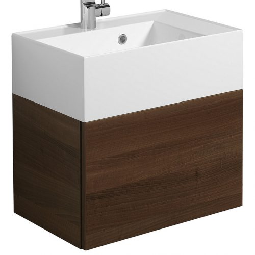 Crosswater Elite Drawer Vanity Unit 50 Walnut EL5000DWT