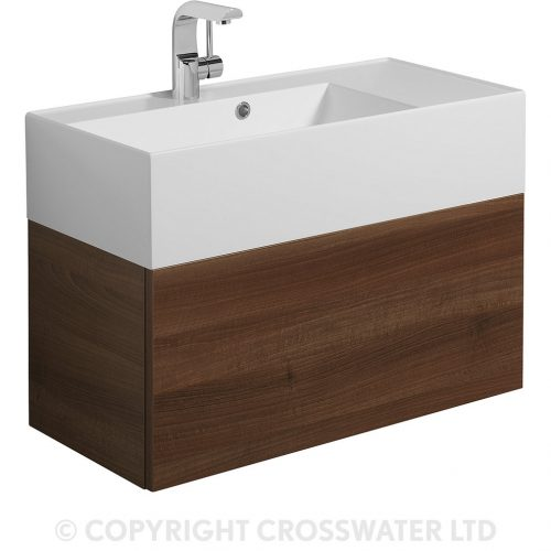 Crosswater Elite Drawer Vanity Unit 70 Walnut EL7000DWT