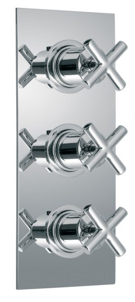 Vado Element 3 handle thermostatic valve ELE-128C-3/4-C/P
