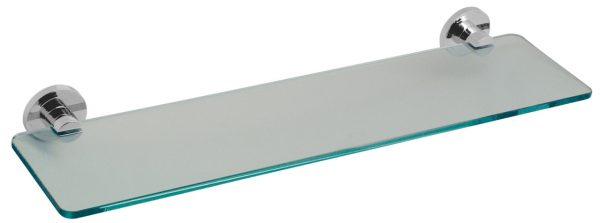 Vado Elements frosted glass shelf 558mm 22'' ELE-185-C/P