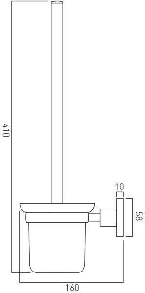 Vado Elements toilet brush an holder wall mtd ELE-188-C/P
