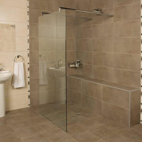 Roman Embrace 927mm Freestanding Wetroom Panel ELLP1013S