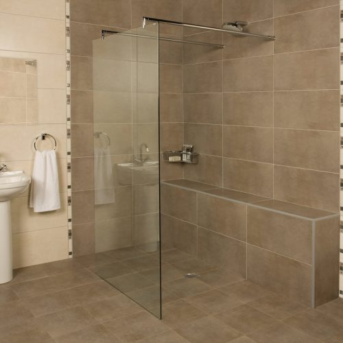 Roman Embrace 827mm Freestanding Wetroom Panel ELLP913S