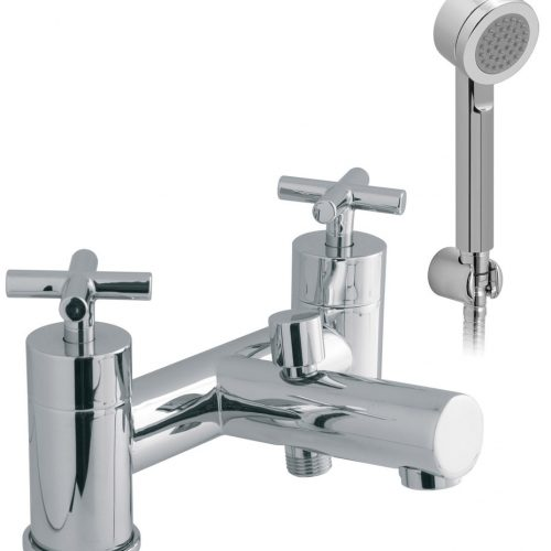 Vado 2 hole bath shower mixer & shower kit ELW-130+K-C/P