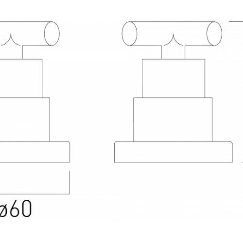 Vado Elements Water pair of valves ELW-142/PR-3/4-C/P-7330
