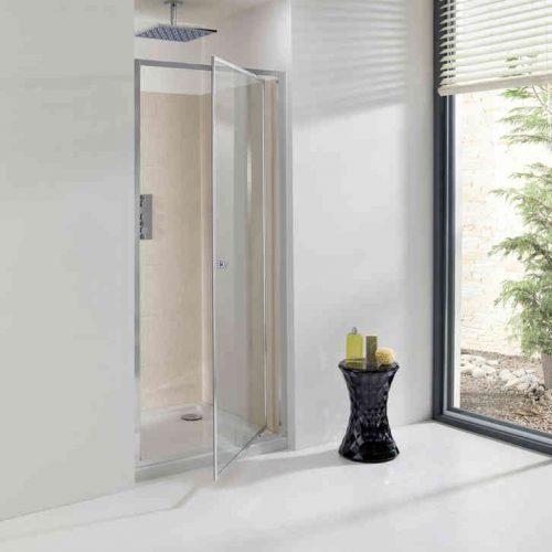 Simpsons Edge Pivot Shower Door 900 860 - 890mm EPDSC0900