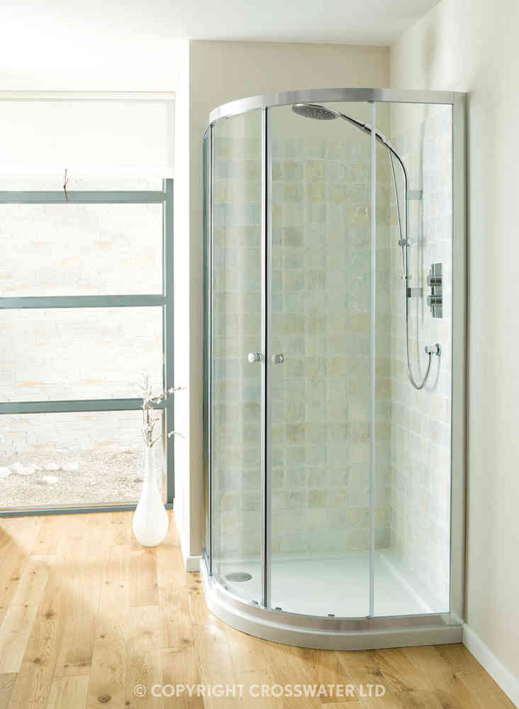 Simpsons Edge Quadrant Double Door 800mm EQDSC0800
