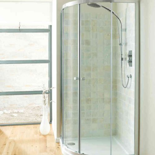 Simpsons Edge 1200 x 800mm Quadrant Double Door EQDSC12X8