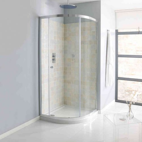 Crosswater Edge Single Door Quadrant 900mm EQSSC0900