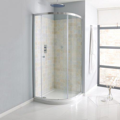 Crosswater Edge Single Door Quadrant 1000mm EQSSC1000