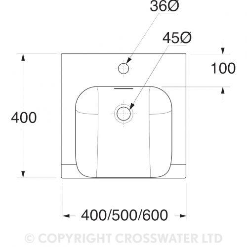 Bauhaus Essence Vanity Basin 400 With Overflow ES0001SCW