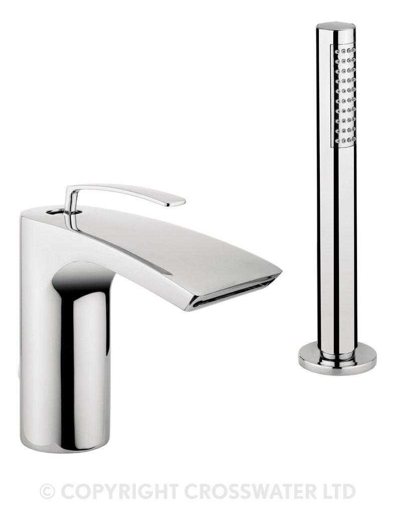 Crosswater Essence Bath Shower Mixer Monobloc Deck ES410DC