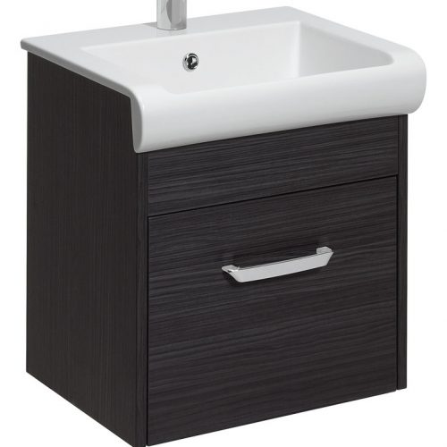 Bauhaus Essence 50cm Vanity 50 Unit Anthracite ES5000DAN