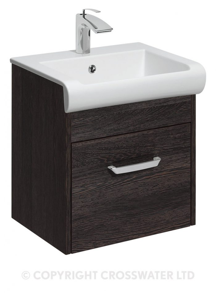 Bauhaus Essence Drawer Vanity Unit 500 Ebony ES5000DEB